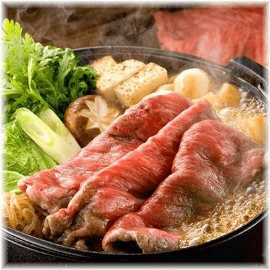 常陸牛の牛すき焼き鍋 900円